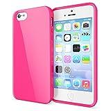 NALIA Schutzhülle für iPhone SE 5 5S, Ultra-Slim TPU Silikon Jelly Case, Dünnes Cover Gummi Schutzhülle Skin, Etui Handy-Tasche Backcover Bumper für Apple iPhone 5 5S SE Phone - Pink