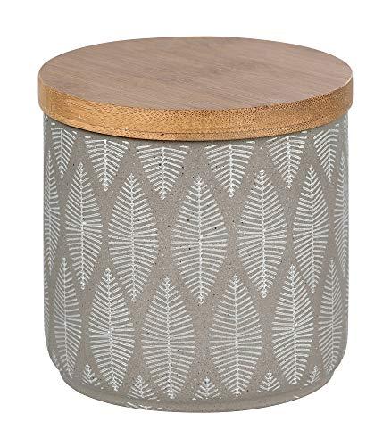 WENKO Universaldose Tupian - Kosmetikdose, Wattedose, Keramik, 10 x 10,5 x 10 cm, grau