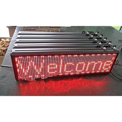 Gowe 1pcs vendere/LED Moving Display/16by 64pixels/elettronico a LED per interni/Pitch: 7.62mm/telecomando/colore: rosso per scegliere/programmabile - Moving Elettronico
