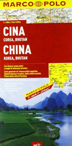 Cina, Corea, Bhutan 1:4.000.000 (Carte stradali Marco Polo)