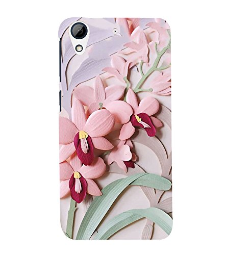 PrintVisa Love Flower Pattern 3D Hard Polycarbonate Designer Back Case Cover for HTC Desire 728 Dual Sim :: HTC Desire 728G Dual Sim