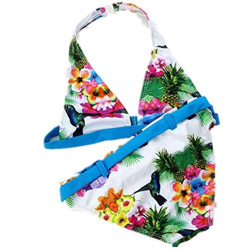 AMYMGLL Kinder Bikini mittlere Kind Kind Badeanzug Mädchen Badeanzug Umwelt hohe elastische Schwimmen Waten Blue