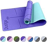 Dustgo Tappetino Yoga da 183cmx63cmx6mm Tappetino Palestra Fitness 100% Ecologico TPE Double-Sided Antiscivolo