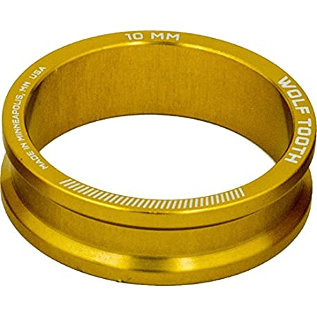 Lobo Diente Componentes Headset espaciador 5 unidades 10 mm color dorado