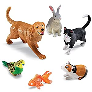 Learning Resources- Animales domésticos Jumbo, Color (LER0688)