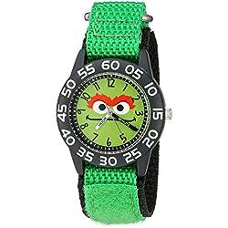 eWatchFactory Boy's 'Sesame Street' Quartz Plastic and Nylon Automatic Watch, Color:Green (Model: W003151)