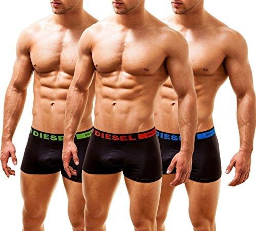 DIESEL Herren 3 Pack Trunks Boxershorts KORY-BRAVE, Large