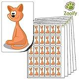 480 x Aufkleber - Katze . Hochwertige selbstklebende Etiketten mit Tiermotiv von Zooify.