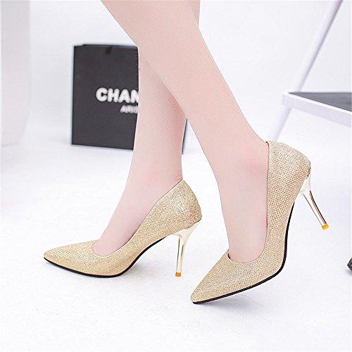 TMKOO 2017 chaussures de mode printemps et en été ont fait des talons hauts talons boîte de nuit coréenne Gold