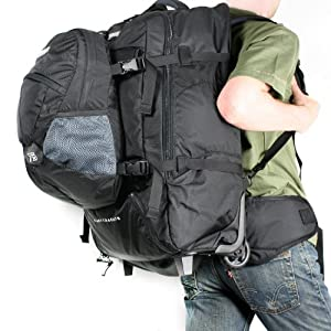 Fast Track 85 Travel Pack/ Wheeled Rucksack (black)