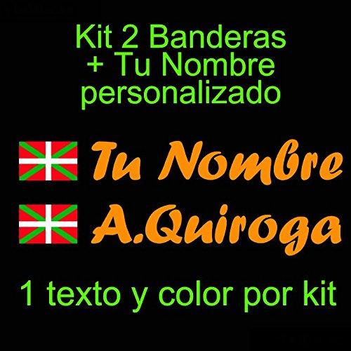 Vinilin Vinilo Bandera Pais Vasco Ikurriña + tu Nombre