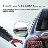 Avantree 10BS AUTO POWER ON Bluetooth Handsfree Car Kit with Motion Sensor for Hands-Free Call, Support GPS, Music, Wireless In Car Visor Speakerphone Kits for iPhone, Samsung