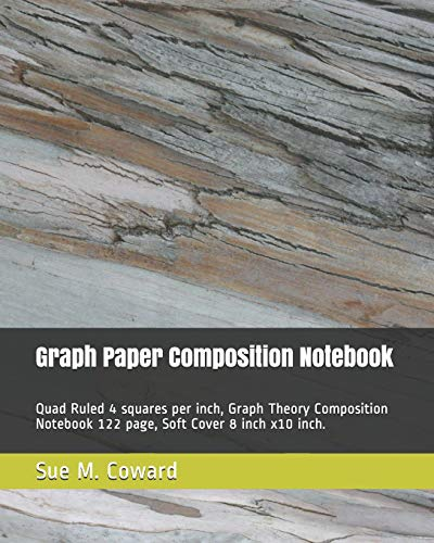 graph notebook quad ruled 4 squares per inch 122 page math and