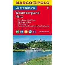 MARCO POLO Freizeitkarte Weserbergland, Harz 1:100.000