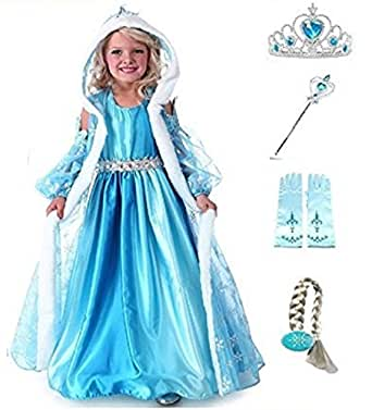 TG. 100 2-3 ANNI SET RISPARMIO PRINCESS COSTUME INCLUSO DI 4 ACCESSORI - CPPCC