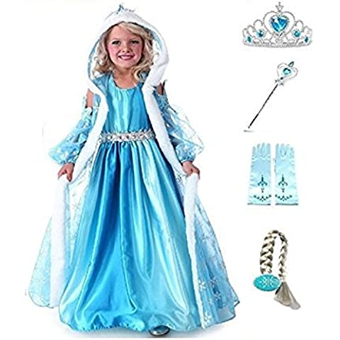 TG. 110 3-4 ANNI SET RISPARMIO PRINCESS COSTUME INCLUSO DI 4 ACCESSORI - CPPCC