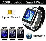 Photron PHDZ09 Bluetooth Smart Wrist Watch Phone With Camera & Sim Card (Steel Black)