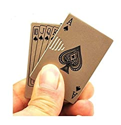 24 Online Bazar Metal Windproof Cigarette Gas Lighter - Playing Cards (Ace)