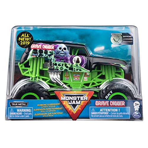 Grave Digger Monster Truck, Die-Cast Vehicle, 1:24 Scale ()