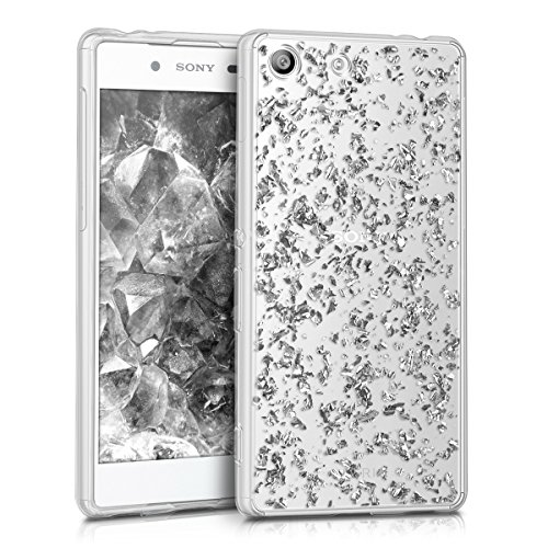 kwmobile Sony Xperia M5 Hülle - Handyhülle für Sony Xperia M5 - Handy Case in Silber Transparent