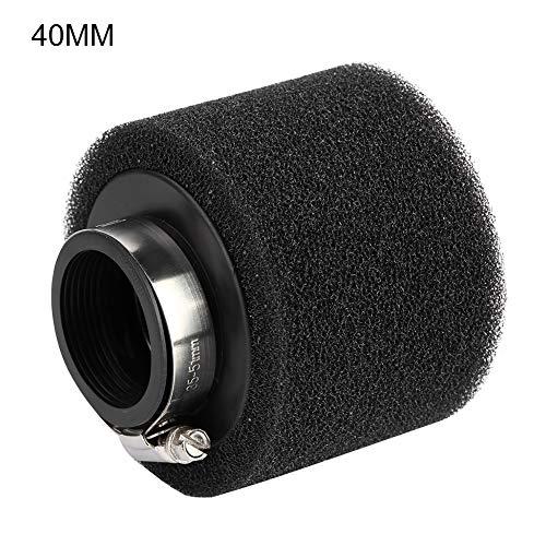 Akozon Filter Air Pod Intake Luftfilter Clamp Gummi Universal Luftfilter Doppelschicht Stahl Filter für Motorrad Pit Dirt ATV 50ccm / 110ccm / 125ccm / 140ccm / 150ccm / 160ccm(Schwarz )(45mm)