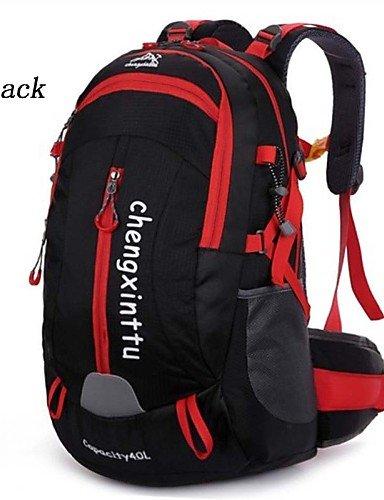 ZQ 40L L Rucksack Camping & Wandern / Reisen Outdoor Wasserdicht / Wasserdichter Verschluß / Atmungsaktiv Grün / Rot / Schwarz / Blau Nylon Black