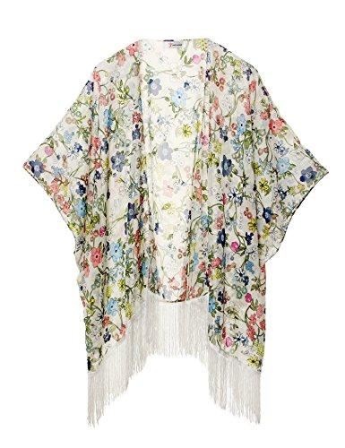 Sommer Strand Kimono für Frauen - Damen Chiffon Pareo Cardigan Cover up Sommerkleider für Bikini