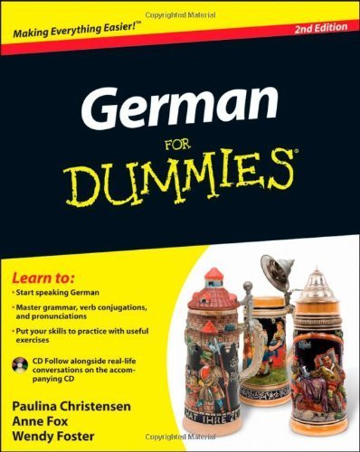 German For Dummies, (with CD) by Christensen, Paulina, Fox, Anne, Foster, Wendy (2011) Paperback