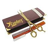 CANDURE®- Golden Hair Friseurschere - friseurscheren - Haarschneideschere - Friseurschere - Barber Salon Scheren, 5.5 ''