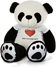 CLICK4DEAL 5 Feet Big Teddy Bear with Personalized Tee & Heart Stamp(152 cm (Panda)