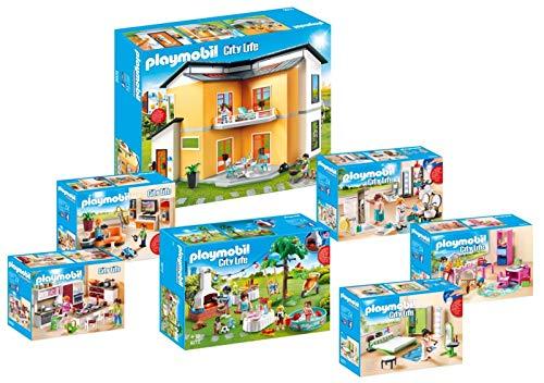Playmobil 9266_9272 Maison Moderne - 7 boîtes 9266+9267+9268+9269+9270+9271+9272