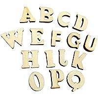 cosanter 100madera letras letras Madera Color 100pequeñas letras del alfabeto teselas para DIY Decoración