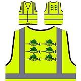 Espadon Smiley Poisson Veste de protection jaune personnalisée à haute visibilité p789v
