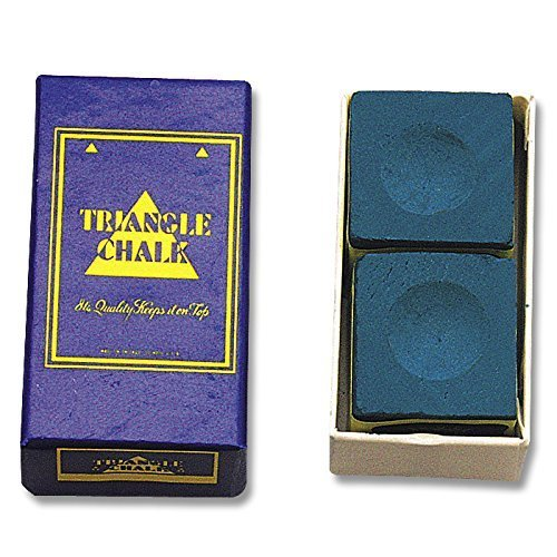 Billard-Kreide Triangle Blau 2erPack (Kreide Triangle Billard)