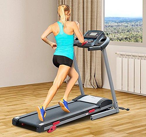 Homcom - Tapis Roulant Professionale Tappeto per Corsa Pieghevole con Schermo LCD e MP3 1.75HP - Attrezzature Per Il Fitness Allenamento Tapis Roulant