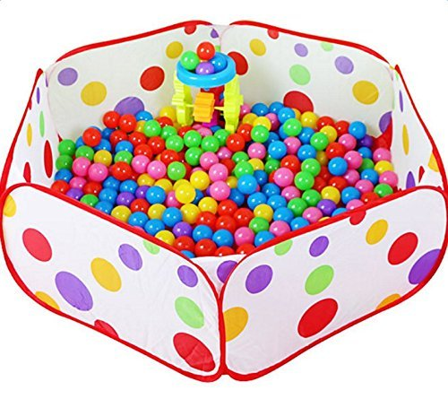 Daorier 1 Pcs Portable Piscine à Balles pour Bébé Enfant Tente de Jeu Piscine Boules Océan Ball Pool (90*45*32cm)