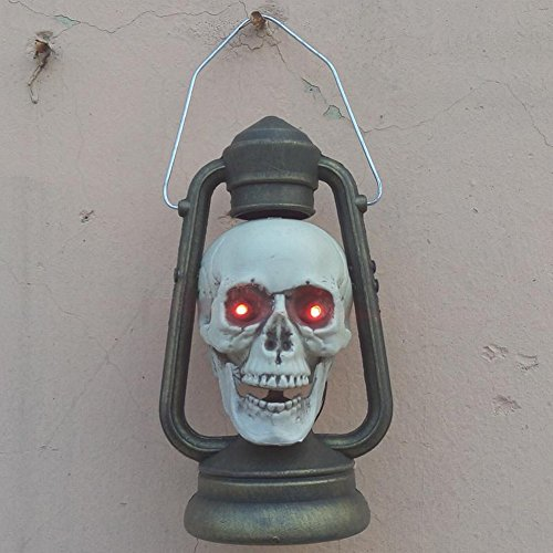 Halloween-verzierungen Sch?del-k?mpfende Pony-lichter Raum-flucht-organe Geist-haus Horror-furchtsame Dekoration,Skelett (Luftballons Leuchten Gesicht Kürbis)