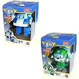 Robocar Poli + Robocar Helly (2 juguetes transformables robot)