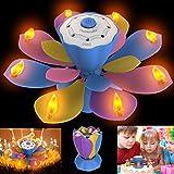Homecube LED Geburtstagskerze LED Musikblumenkerze Blühende Lotus Elektrische LED Leuchte mit Blow Out Design für Geburtstagsparty Geschenk, Weihnachtsbeleuchtung Dekoration