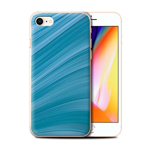 Stuff4 Hülle / Case für Apple iPhone 7 Plus / Martini-Glas/Alkohol Muster / Teal Mode Kollektion Abstrakte Welle