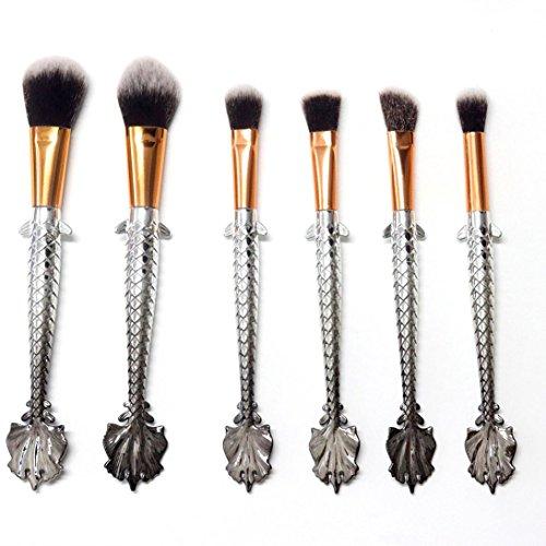 schwanz fisch skala makeup pinsel anzug werkzeuge foundation makeup pinsel (B) (Halloween-make-up-skalen)