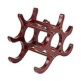 Aus Holz Weinregal Kreativität Ornamente Haushalt Weinschrank Restaurant Bartheke 6 Standardflaschen,Red