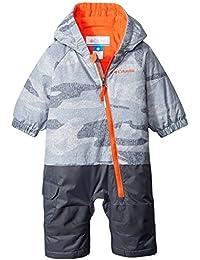 Columbia bebés chavalito conjuntos termales, bebé, color Gris - Tradewinds Grey Camouflage/Tangy Orange, tamaño Size 0/3