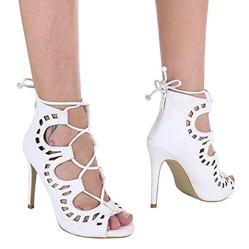 projeto Ítalo Saltos Estilete Sapatos Zipper Salto Sandálias Branco Salto Femininos Pfennig Do Alto Sandálias Ax1qFd