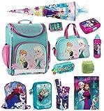 Disney die Eiskönigin Schulranzen Set 18tlg. Sporttasche Schultüte 85cm Regen/Sicherheitshülle von Familando PL14 Frozen