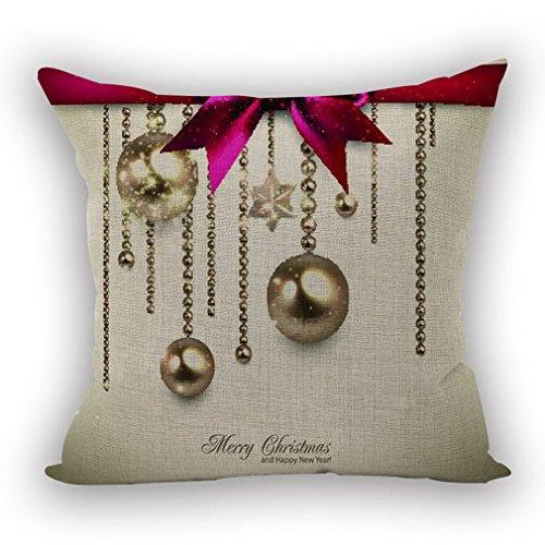 Nunubee Kissenbezug Wohnzimmer deko deko Kissen Shabby chic deko scheibengardine landhausstil Autodekoration Sofa Cover, Weihnachten 19 45x45CM