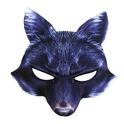 Rappa Tolle, lebensechte Tiermaske 3D Maske Böser Wolf für Kinder ab 3 Jahren