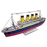 juler Pädagogisches Spielzeug Gebäude Puzzle Titanic - Farbfeld 3D-Modell dreidimensionales PuzzleDIY Handbuch,Gelb,Einheitsgröße