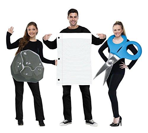 Kostüm Schere Papier Stein - Trachtengruppe Stein, Papier, Schere für Erwachsene
