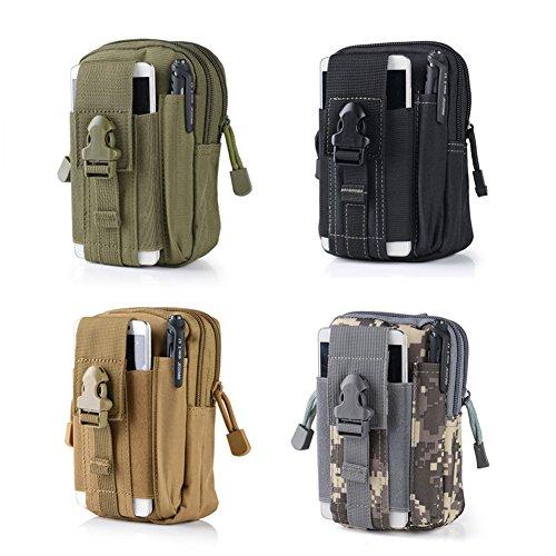 Brave Pioneer Outdoor Hüfttaschen taktische handytasche gürteltasche Groß Kapazität brieftasche Beintasche mit Gürtel Schlaufe Gurtschloss camping wandern beutel Grün